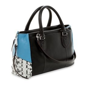 Rylee East West Satchel In Snake Print